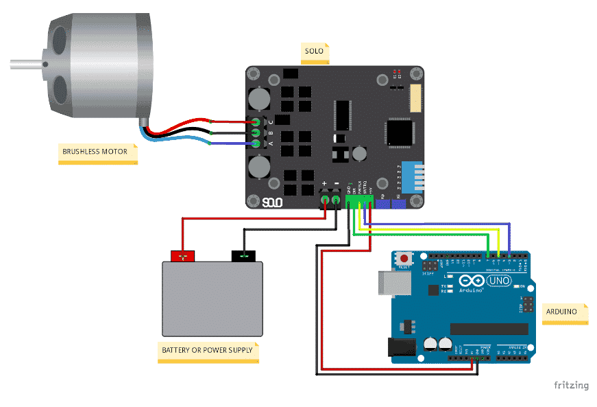 How to control speed or torque of your Brushless Motor with Arduino using SOLO (closed-loop) 2